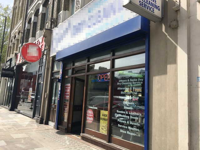 Dry Cleaning Receiving Shop in West London For Sale