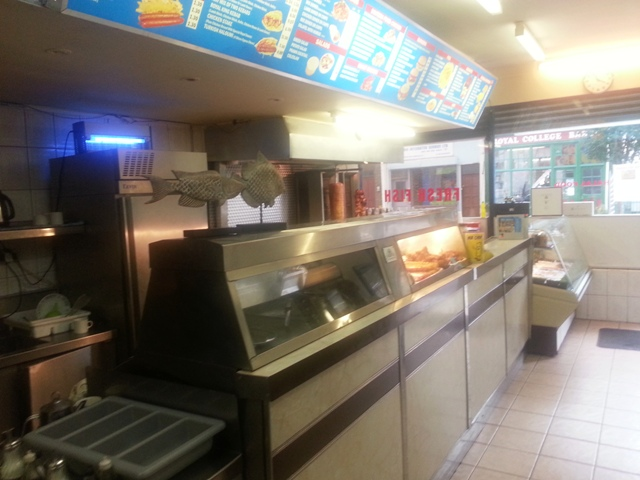Well Equipped Takeaway Fish and Chips Plus Kebabs Plus Restaurant Area with Tables and Chairs For 12 Persons, North London for sale