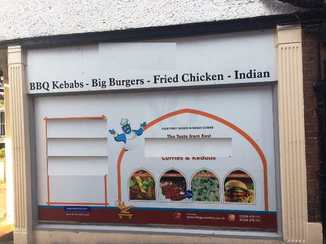 Well Fitted Hot Food Takeaway and Delivery Including Indian Cuisine, Kebabs Plus Fast Food for sale in Basingstoke, Hampshire for sale