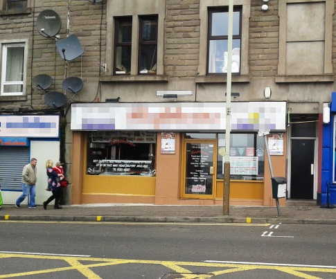 Caf� and Fast Food Restaurant (Pizzas and Kebabs) in Scotland For Sale