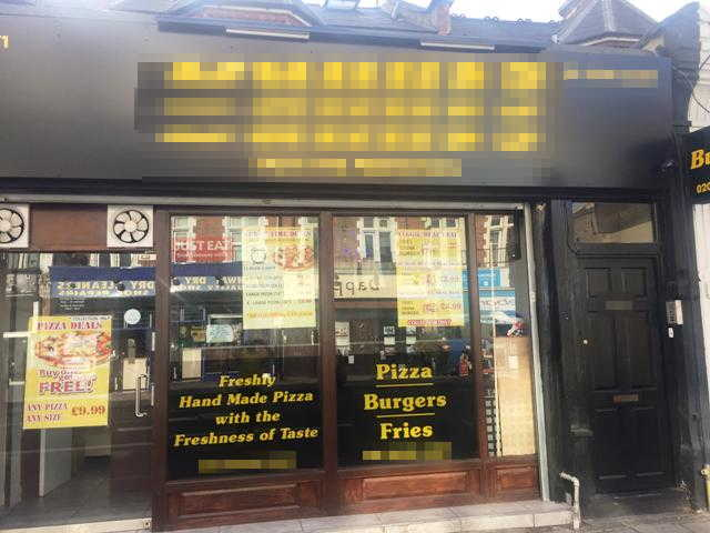 Pizza & Burger Takeaway in North London For Sale